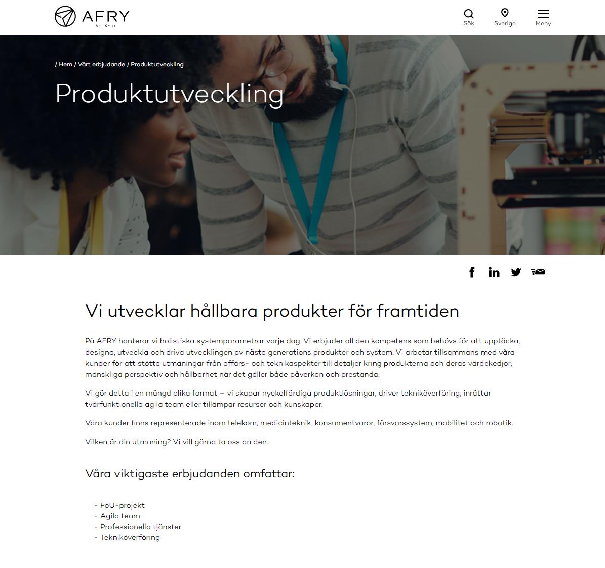 Produktutveckling – AFRY