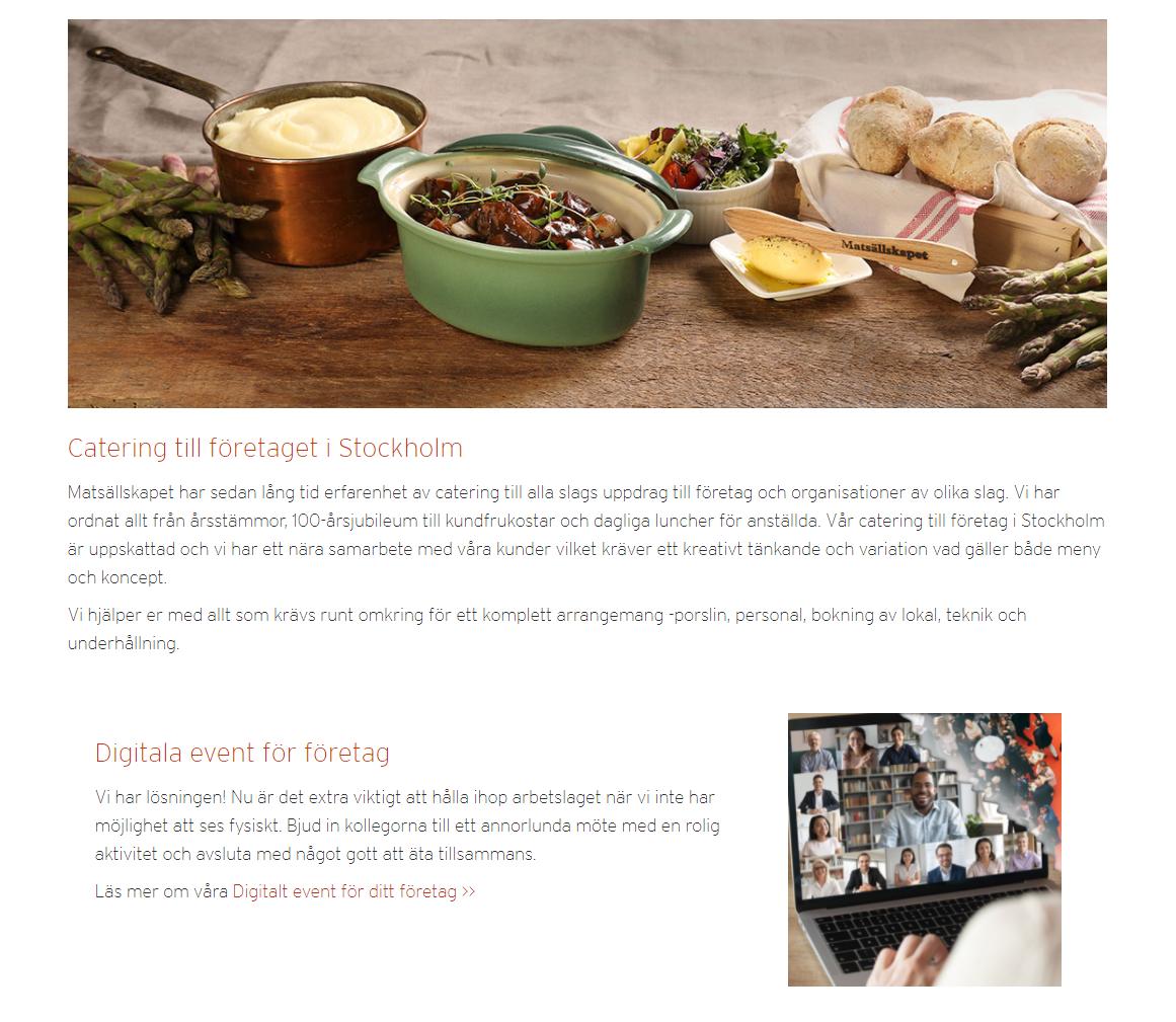 Catering och event till företaget – Matsällskapet